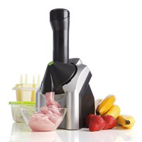 Yonanas 901 Deluxe Ice Cream Treat Maker, Black/Silver
