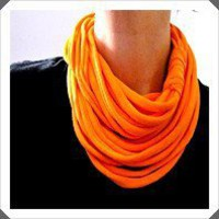 Bright orange infinity circle trendy t shirt scarf | UnusuallyYours - Accessories on ArtFire