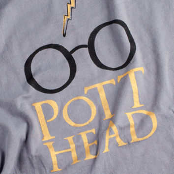 Harry Potter T Shirt  - Pott Head Screenprint - The Perfect Gift for the Harry Potter - phile in your life
