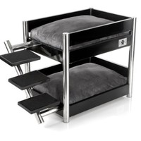 LazyBonezz Metropolitan Pet Bunk-Bed, Ebony