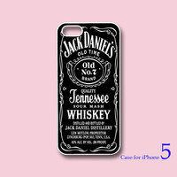 Jack Daniel&#x27;s --iphone 5 Case,iPhone 4  case  in durable black or white plasic and silicone