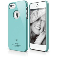 elago S5 Slim Fit Case for iPhone 5 + Logo Protection Film included - eco friendly Retail Packaging - Coral Blue