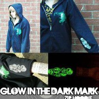 Harry Potter Hoodie. Glow in the dark print