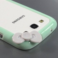 Sleek Bow Bumper Case Cover for Samsung Galaxy S III S3