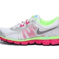 Amazon.com: Nike Womens Dual Fusion St 2 Platinum Fireberry 454240-020: Shoes