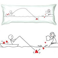 "Amazon.com: BoldLoft ""Catch My Heart"" Body Pillowcase-Romantic Valentine's Day Gifts for Couples,Cute Valentines Gifts for Him or Her,Romantic Anniversary Gifts: Home & Kitchen"