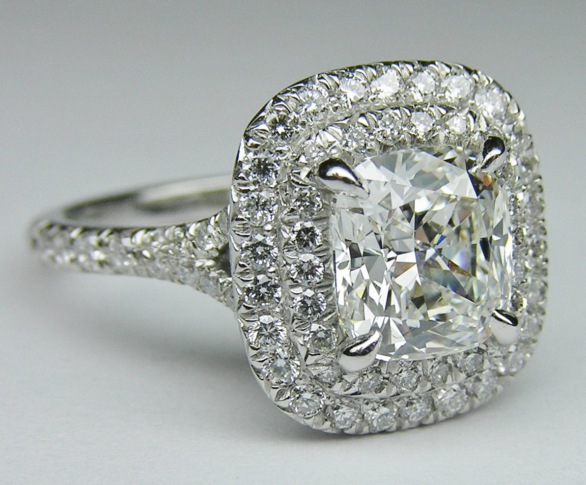 engagement ring cushion diamond double from mdc diamonds. Black Bedroom Furniture Sets. Home Design Ideas