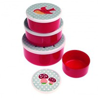 Round Snack Boxes Set 4 Woodland | DotComGiftShop