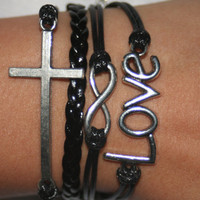 Bracelet cross love infinity bracelet gift for friendsBBF