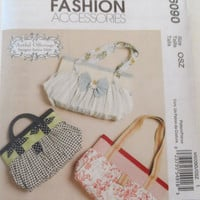 New McCalls pattern lined purse handbag tote bag flower  fashion bag Artful Offerings three styles