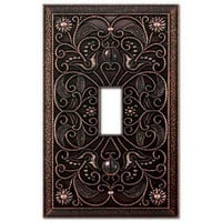 Wall Plate Light Switch Plate & Outlet Cover Arabesque Tuscan Bronze metal