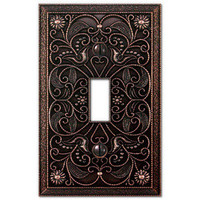 Wall Plate Light Switch Plate &amp; Outlet Cover Arabesque Tuscan Bronze metal