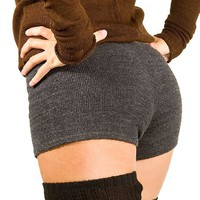 Charcoal Small Sexy Low Rise Stretch Knit KD dance Yoga & Dance Boy Shorts High Quality, Sexy, Cute & Fashionable Made In NYC USA