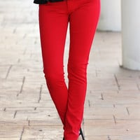 Red Skinny Pant - $5 Shipping