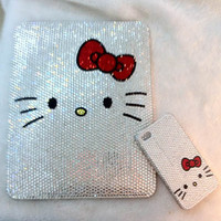 Custom Hello Kitty Swarovski IPAD &amp; IPHONE BLING by Blythaholic