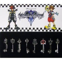 Amazon.com: Kingdom Hearts II Keyblade Pendant Necklace Set 2 Sora: Toys & Games