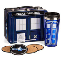 Doctor Who Special Edition Lunch Box with Coasters &amp; Thermos