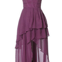 Trendy and Cute dresses - Gracia - Sweet Violet Asymmetrical Dress - chloelovescharlie.com | $87.00