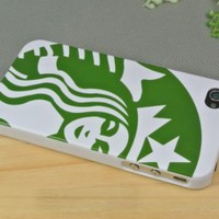Limited Addition Starbucks Coffee Logo Case for Iphone 4/4s White