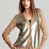 Jones New York Collection Long Sleeve Sequin Front Cardigan | Bloomingdale's