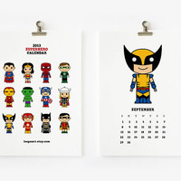 2013 Calendar Cute Superhero