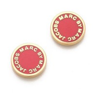 Marc by Marc Jacobs Logo Disc Stud Earrings | SHOPBOP