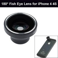 Amazon.com: 180° Degree Fish Eye Lens for iPhone 4G 4S iPod Camera Mobile Phone: Cell Phones & Accessories