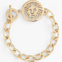 Anne Klein Lion Detail Toggle Bracelet
