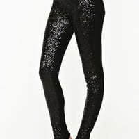 Blackout Sequin Jeans