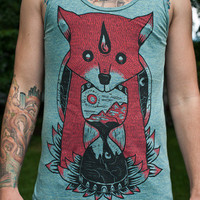 Sleepyhead Clothing | Adventure Fox Tank (Tri-Lemon) | Online Store Powered by Storenvy