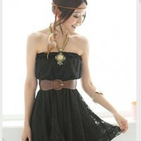 YOCO Fashionable Black Lace Tube Dresses Online : Yoco-fashion.com