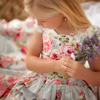 Girls Flower Girl Dress In Lovely Confections by vintageprecious