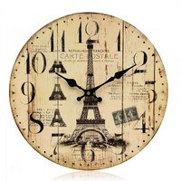 Retro & Idyllic Mediterranean Wind Decorative Wall Clock