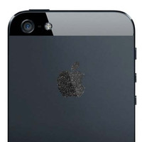 iPhone 5 Mystery Black Apple Decal