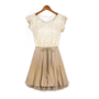 New womens Court style Retro Lace Sleeveless vest dress
