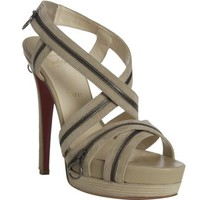 Christian Louboutin Beige Suede Trailer Platform Sandals [2011102706] - $209.00 : Christian Louboutin Shoes Sale, Enjoy 77% Off On Designer Outlet