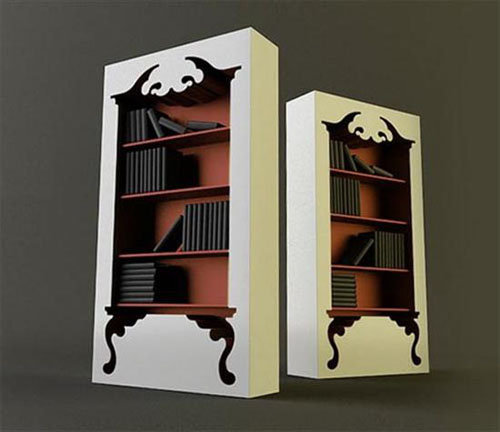 Unique Bookcase Design Inspired by Classic Furniture « Home Interior Design, House Decorating Ideas, Exterior Furniture, Gardening, Office