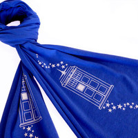 Bigger on the Inside Scarf Doctor Who TARDIS by binarywinter