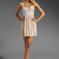 BB Dakota Abella Chiffon Dress in Froth Beige from REVOLVEclothing.com