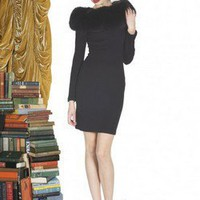 Alice + Olivia   Peggy Fur Collar Dress