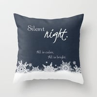 silent night Throw Pillow by Alice C. | Society6