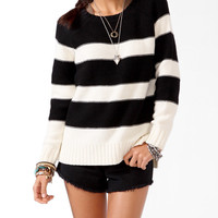 High-Low Rugby Striped Sweater