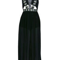 Petites Embellished Maxi Dress