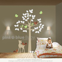 Tree Deer and Squirrel Nursery kids removable by pinknbluebaby
