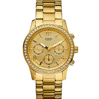 GUESS Watch, Women's Chronograph Goldtone Stainless Steel Bracelet 38mm U14503L1 - All Watches - Jewelry & Watches - Macy's