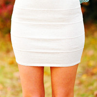 Geared Up For Fall Skirt: Ivory | Hope's