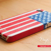 iphone case , iphone 4s case , iphone 4 case , case for Iphone 3Gs mobile Case handmade: USA flag