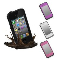S9D Waterproof Shockproof PC Case Water Snow Dirt Proof Cover For iPhone 4 and 4S