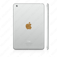 iPad Mini Sparkling Gold Apple Overlay