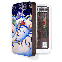 DENY Designs Home Accessories | Renie Britenbucher Winter Skiing Fun BlingBox 2ct